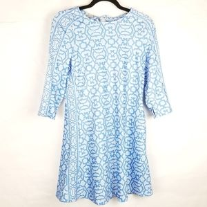 Gretchen Scott Magpie Blues Printed Nylon Dress
